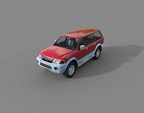 3D model Low Poly Car - Mitsubishi Pajero Sport 1996
