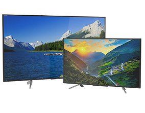 3D model TV Sony 75 and 50 inch