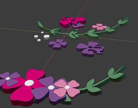 Plastic Flower Charm 3D asset