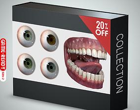 3D model Eyeball and Teeth Collection
