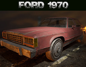 3D asset Ford Crown Victoria 1970 - LowPoly