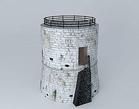 Porec Tower 3D asset