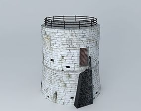 Porec Tower 3D asset