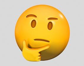 Emoji Thinking Face 3D model