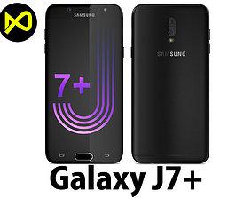 3D model Samsung Galaxy J7 Plus Black
