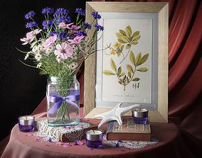 Bouquet of wildflowers 3D model