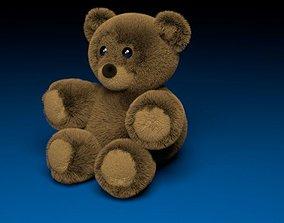 3D asset realtime PBR Teddy Bear