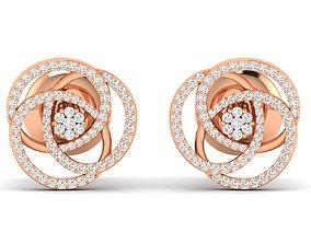 Women earrings 3dm stl render detail silver drop-earrings