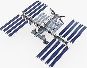 3D model game-ready International Space Station