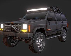 3D asset Jeep Cherokee Offroad Build