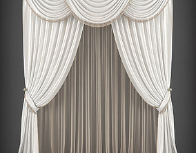 Curtain 3D model 232 VR / AR ready