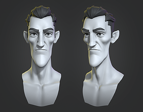 Cartoon Dracula base mesh male 3D