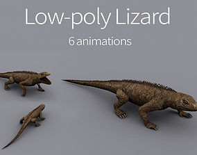 3D model animated reptile lizard animation