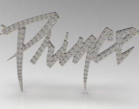 Prince Name Tag Pendant With Diamond 3D printable model