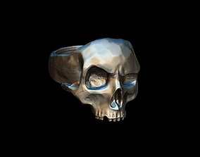bone Realistic Skull Ring 3D print model
