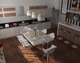 3D model Kitchen Interior table