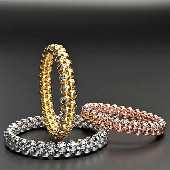 Stunning eternity ring packs