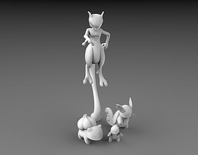 3D POKEMON - HIGH RES - 150 MEWTWO