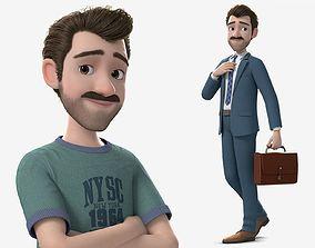 3D PBR Cartoon Man Rigged