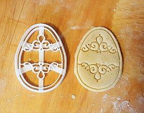 Easter egg cookie cutter 3D printable model