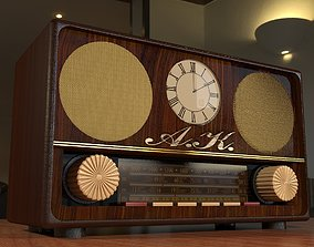 OLD RADIO 3D model low-poly