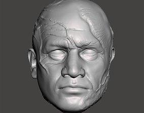 Boba Fett head sculpt for 3d print rigged