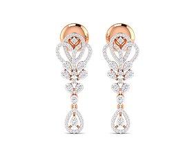 delicate Women earrings 3dm stl render detail