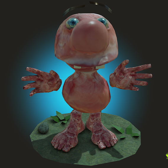 Meet Matthew the Meat Puppet Character Rigged