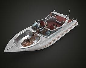 Speedboat Aluminium 3D asset