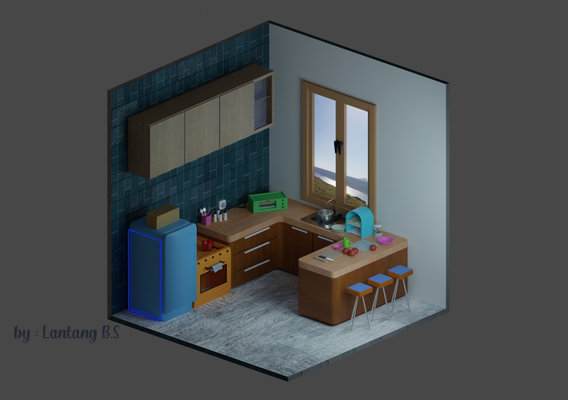 kitchen Low Poly