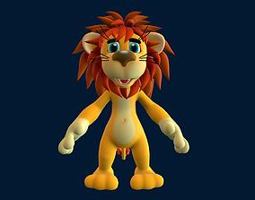 Lion cub 3D asset low-poly