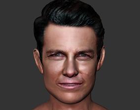 Tom cruise realistic head actor 3D print 3D model
