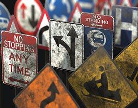 Traffic Sign Collection VOL 1 3D asset