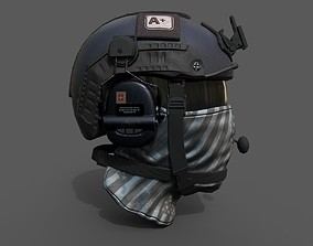 Helmet scifi military combat soldier ver 2 3D model