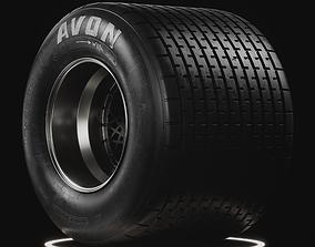 3D model Avon Cut Wet Historic Tire Real World Details