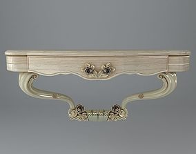 3D Baroque Wall Console Table