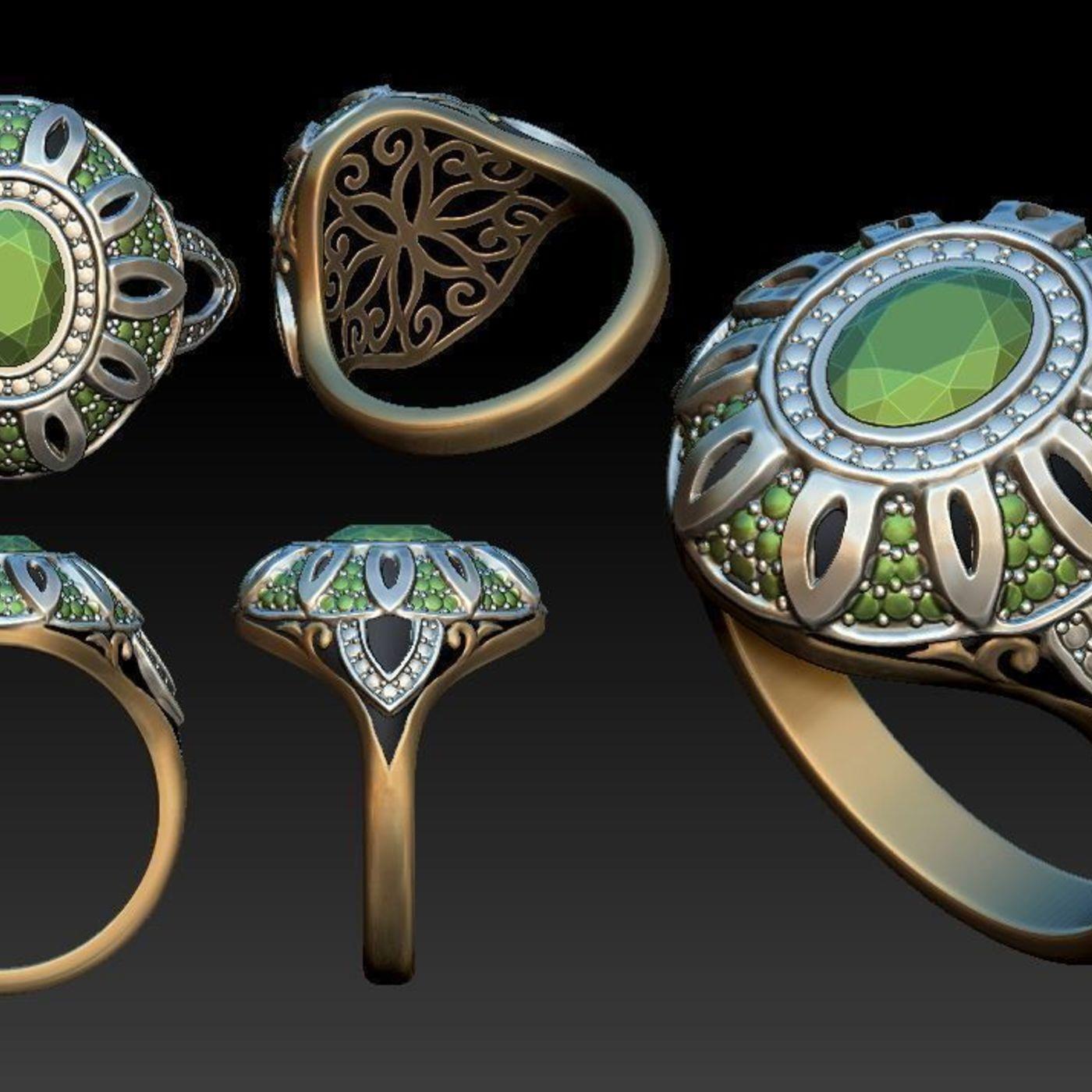 3d sketch jewelry