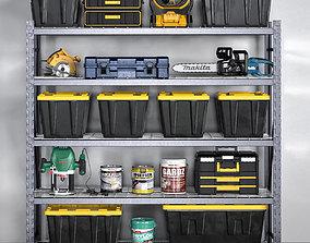 garage tools set 12 3D