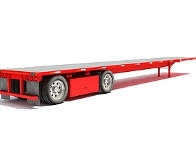 Flatbed Trailer 3D Models