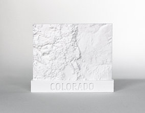 3D print model 047d - Magnet - Colorado Topography -