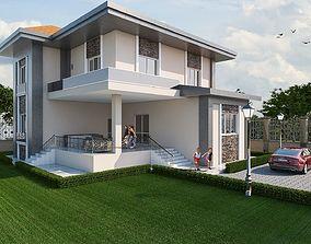 3D model vray Modern Villa