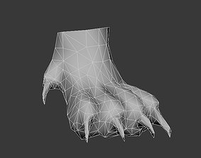 paw front paw 3D model low-poly