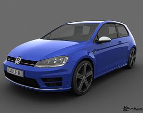 Volkswagen Golf R 3 doors 2014 3D