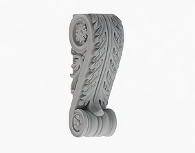 Scroll Corbel 01 3D model