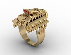 3D printable model jewellery ring engine