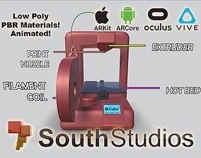 Animated 3D Printer AR VR Unity 3dsmax animated