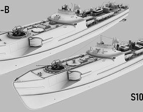 3D model SCHNELLBOOT S38-B and S100 BUNDLE