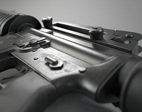 M4 Assault Rifle weapon 3D model