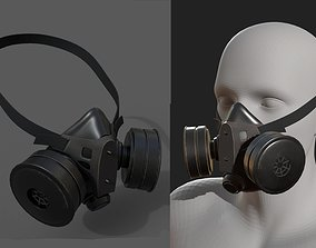 VR / AR ready Gas mask protection futuristic technology 3