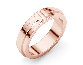 tiffany Two Narrow Ring 3D print model